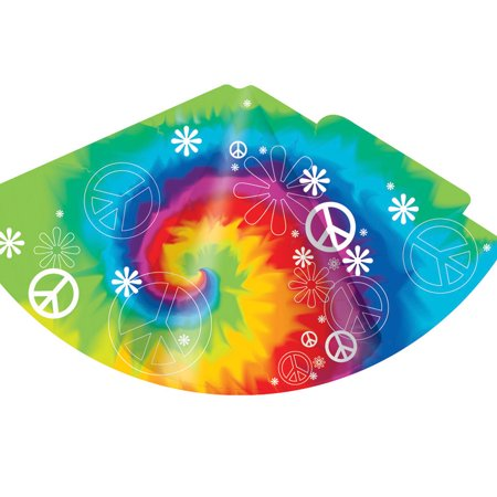 Child Party Hats Tie Dye Fun 8 Pack Cone (Fun Cone Hat)