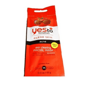 Yes to Tomatoes Clear Skin Acne Skin Clearing Facial Mask 0.5oz/15g (Single-Use Packet)