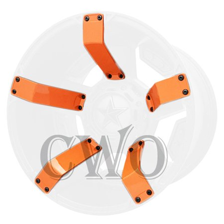 Orange XD Series XD811 Rockstar 2 Inserts For 15x7 +0 ATV Wheel