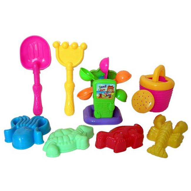 Sunshine Trading KZ-66 Sand Wheel Toy - 8 Piece Set