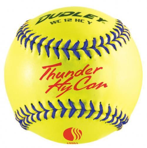 "Dudley Thunder HyCon 12"" Synthetic USSSA .52 275 Softball Dozen 4U-067Y-DZ by Dudley"