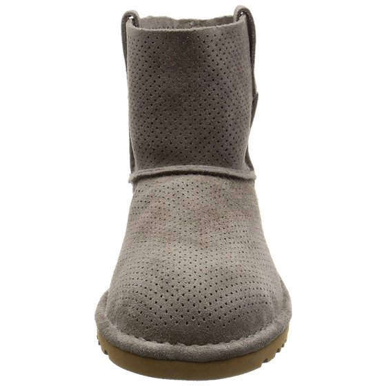 8be75d78d18 UGG Australia Womens Classic Unlined Mini Perforated Leather Closed Toe  Ankle...