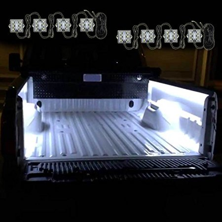 Zento Deals 8 Pcs of Ultra White Bright LED Lighting Bed Truck