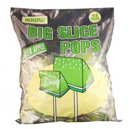 Big Slice Apple Pops Bag, 48 Count](Big Lollipops)