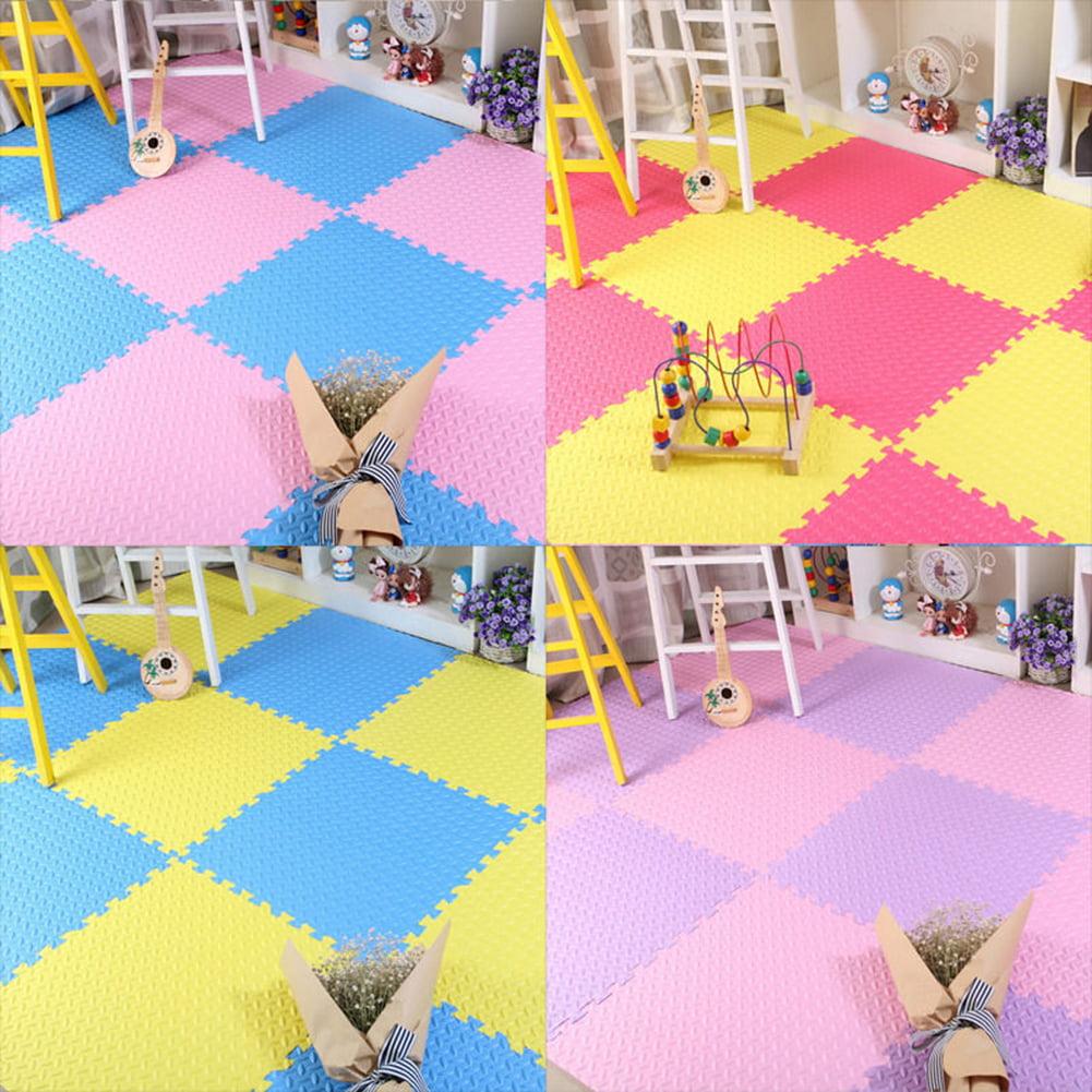 Micelec 9Pcs Kids Foam Floor Play Mat Game Puzzle Environmental Protection Mats Yoga