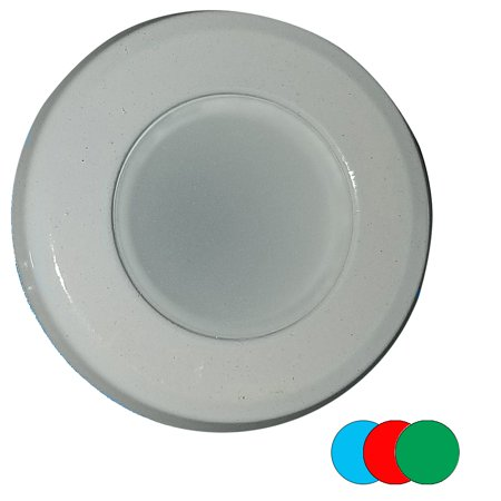 Shadow-Caster Color-Changing White, Blue & Red Dimmable - White Powder Coat Down Light - image 1 of 1