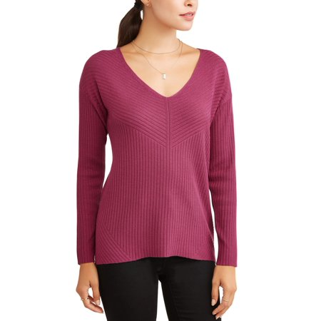 Heart N Crush Women's Relaxed V-Neck Sweater (Mugatu Sweater)