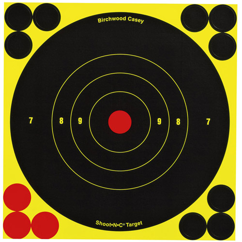 "Birchwood Casey Shoot-N-C Self Adhesive Bull's Eye 6"" Target, 60 Sheets Per Pack"