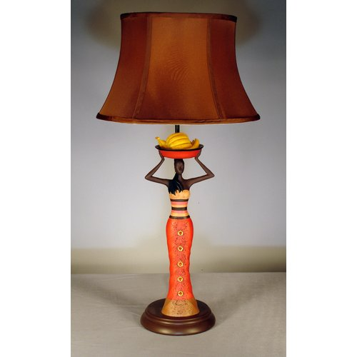 Judith Edwards Designs Jamaican Lady with Bananas 27'' Table Lamp