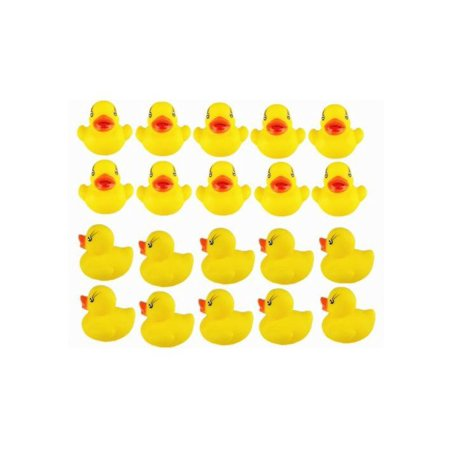 20pcs Yellow Duck for Baby Bath Tub Bathing Rubber Squeaky - Graduation Rubber Ducks