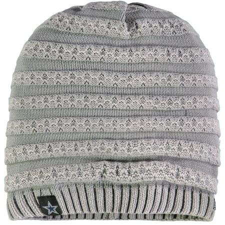 Dallas Cowboys New Era Women's Snowbank Knit Beanie - Gray - OSFA (Dallas New Era Beanie)