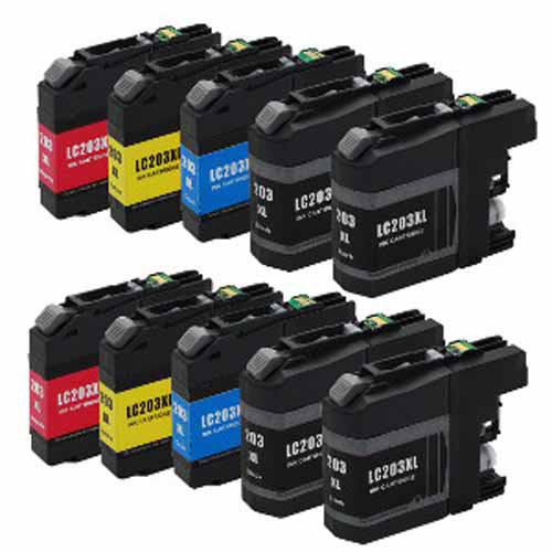 Universal Inkjet Compatible Multipack for Brother LC203, 10-Pack