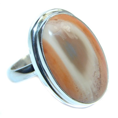 Authentic Imperial Jasper Sterling Silver Ring size adjustable