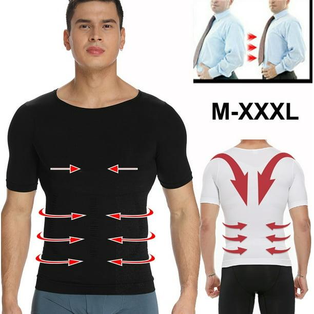 Vaslanda Vaslanda Mens Slimming Body Shaper Shirt Tummy Control Short Sleeve Compression T Shirt Abs Abdomen Slim Tank Top Shapewear Walmart Com Walmart Com