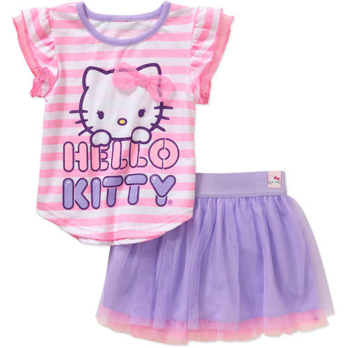 Hello Kitty Toddler Girls' Tee and Skirt Outfit Set