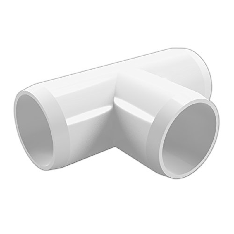 "FORMUFIT F114TEE-WH-4 Tee PVC Fitting, Furniture Grade, 1-1/4"" Size, White, 4-Pack"