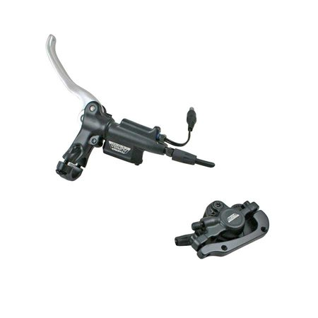 Tektro, Auriga E-Comp-R, Rear hydraulic disc brake with lever, disc, caliper, hose and sensor control for electric bike
