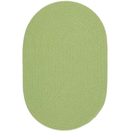 Green Rug Braided Solid Color 7 Foot By 9 Foot Oval Soft
