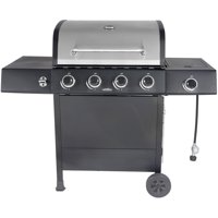 RevoAce 4-Burner Gas Grill with Side Burner, Stainless Steel & Black