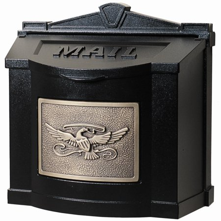 Gaines Mfg Black w/Antique Bronze Eagle Mailbox