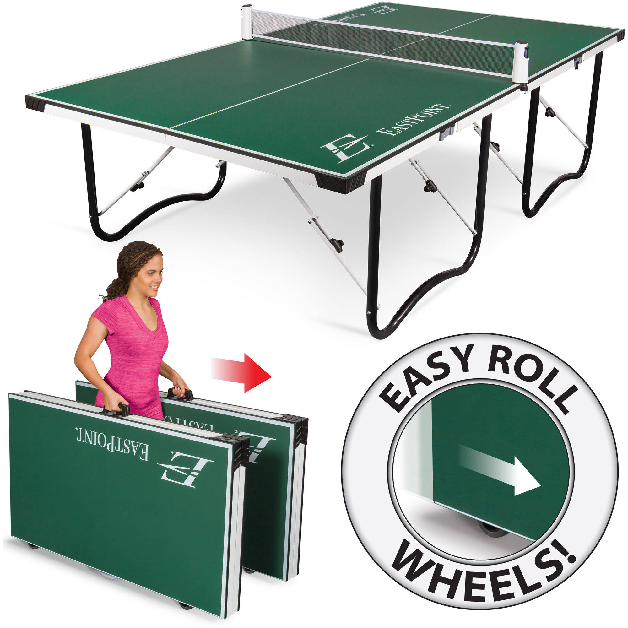 EastPoint Sports Fold 'N Store Table Tennis Table, 15mm