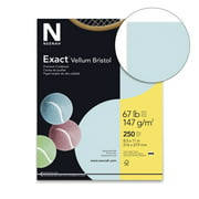 Exact Vellum Bristol Cardstock, 8-1/2 x 11 Inches, 67 lb, Blue, Pack of 250