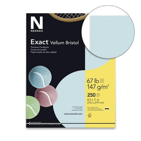 Exact Vellum Bristol Cardstock, 8-1/2 x 11 Inches, 67 lb, Blue, Pack of (Blue Vellum)