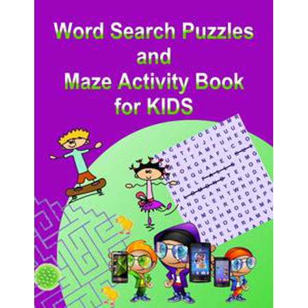 Word Search Puzzles and Maze Activity Book for KIDS - eBook (E Halloween Words)