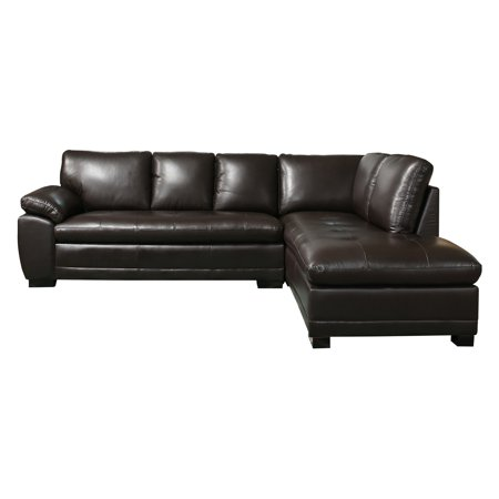 Abbyson Woodland Premium Italian Leather Sectional (Reclining Italian Leather Sectional)