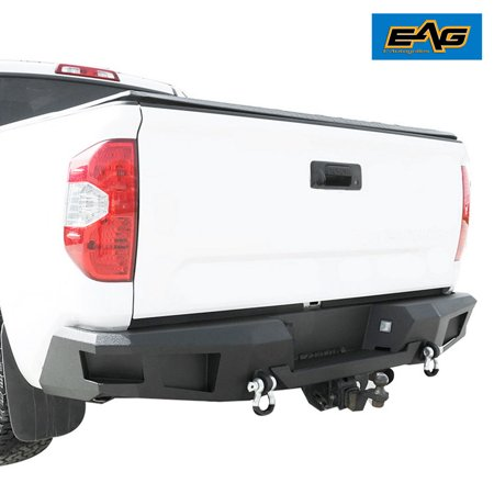 Duty Replacement Bumper (EAG EAG Rear Bumper Replacement Heavy Duty for 14-17 Toyota Tundra )