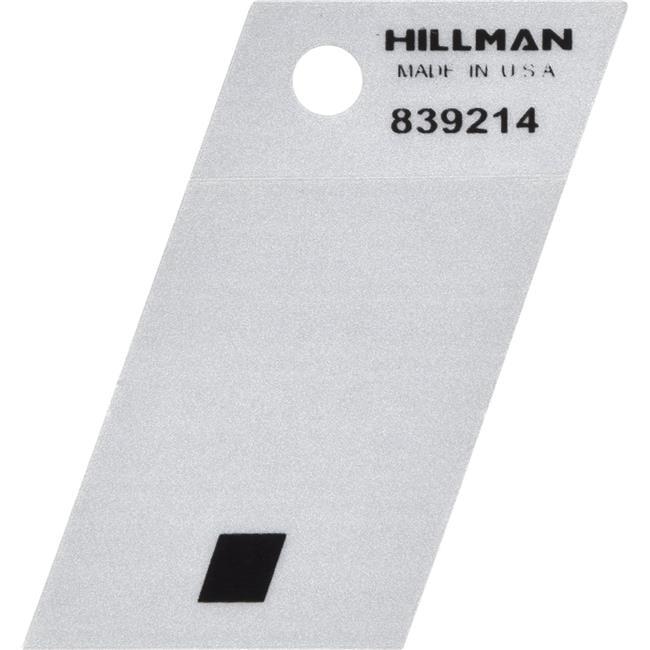 Hillman Group 839214 1.5 in. Black & Silver Reflective Mylar Angle-Cut Adhesive Symbol - Period - 5 Piece - image 1 de 1