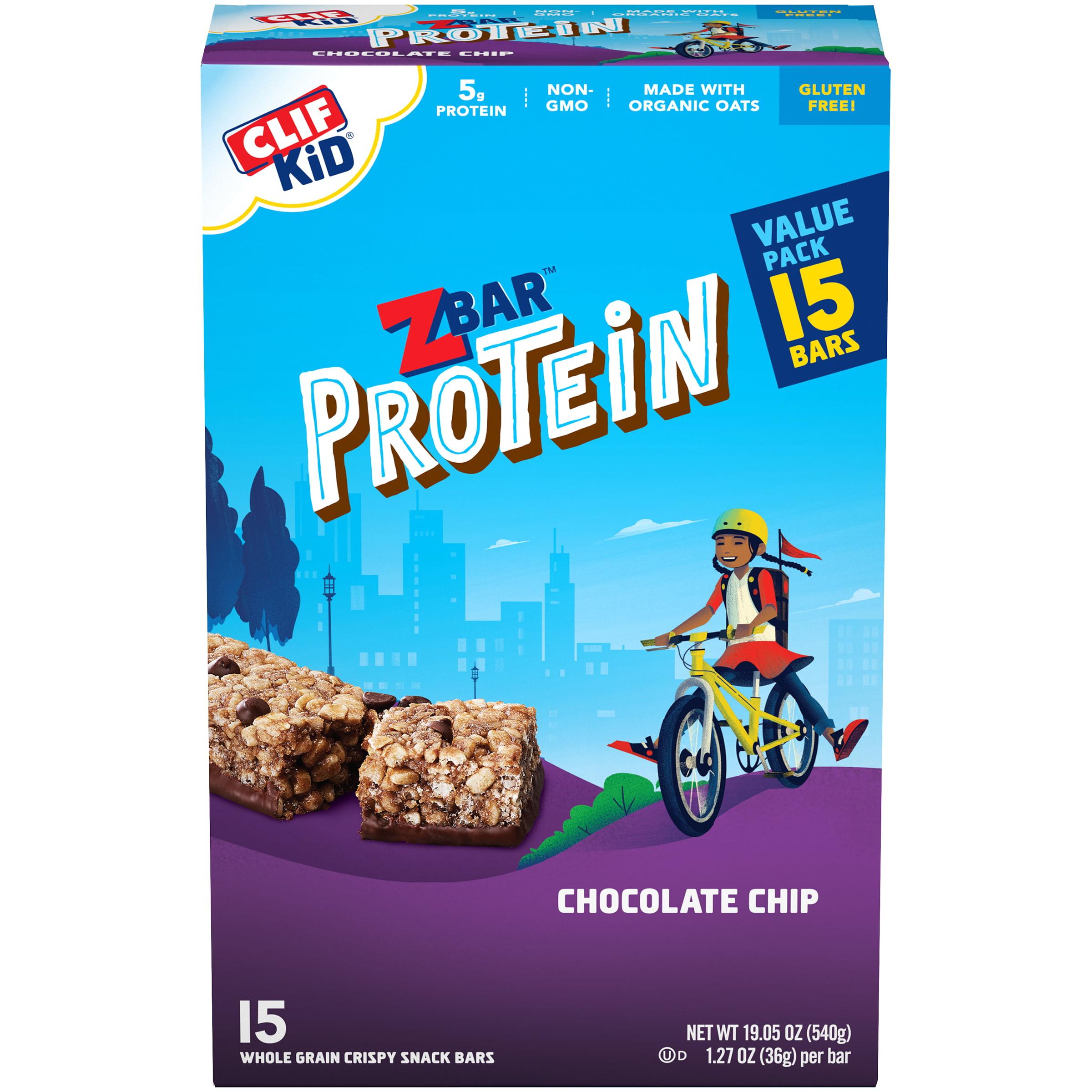 CLIF KID Zbar Protein Granola Bars, Gluten Free, Chocolate ...