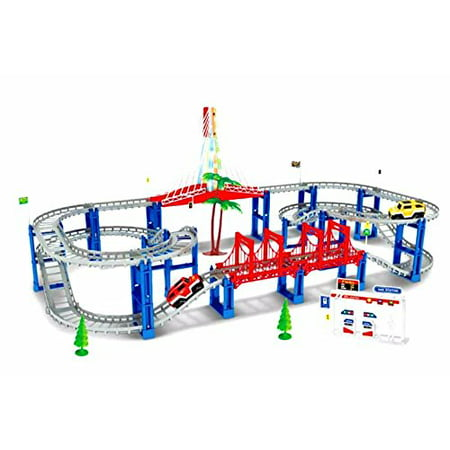 Electric RC Slot Car Racing Track Sets Dual Speed Mode Race Track for Boys and Girls - Colorful LED Lights, 2 Slot Racing Car ()