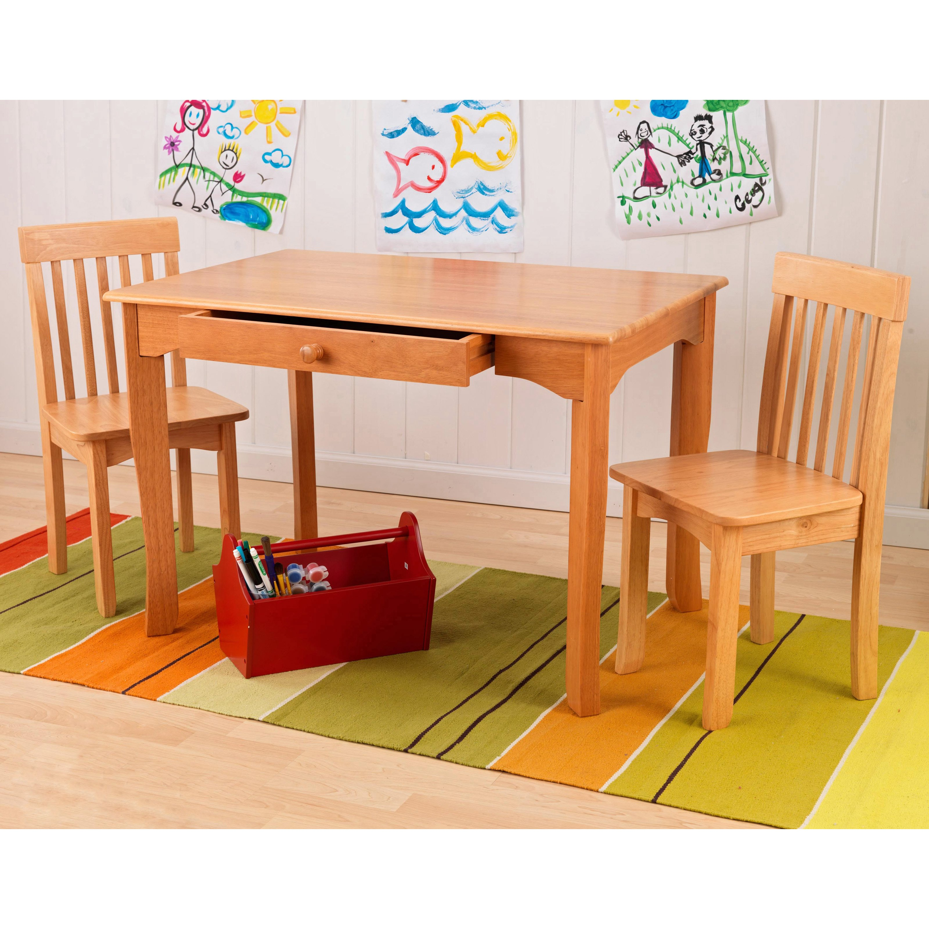 Avalon Table and 2 Chair Set - Espresso