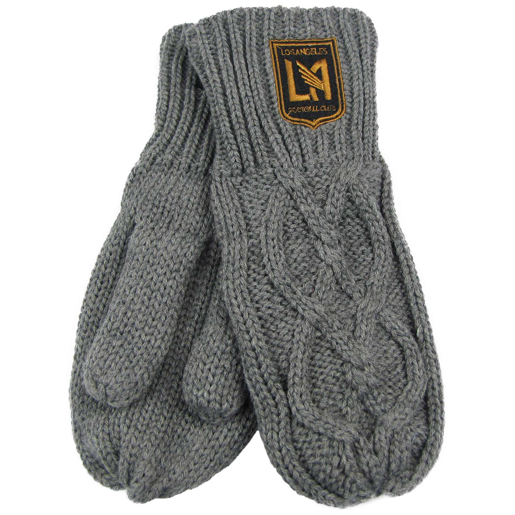 LAFC ZooZatz Women's Cable Knit Mittens - Charcoal - No Size