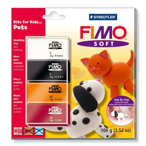 Staedtler Fimo Soft Modelling Clay Kits for Kids- Pets