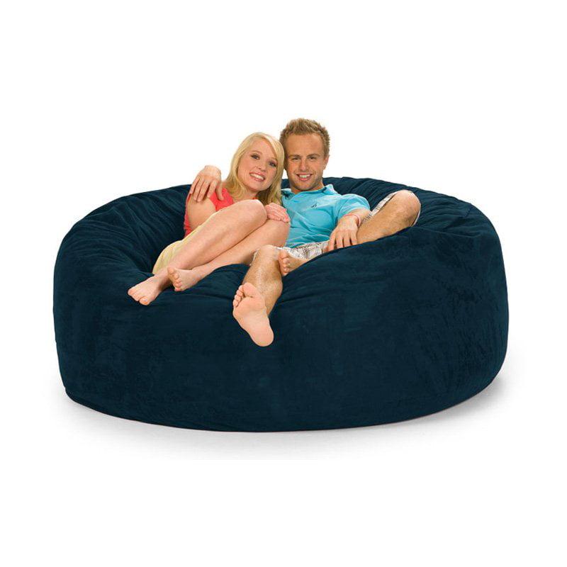 Relax Sack 6 ft. Microsuede Foam Bean Bag Sofa