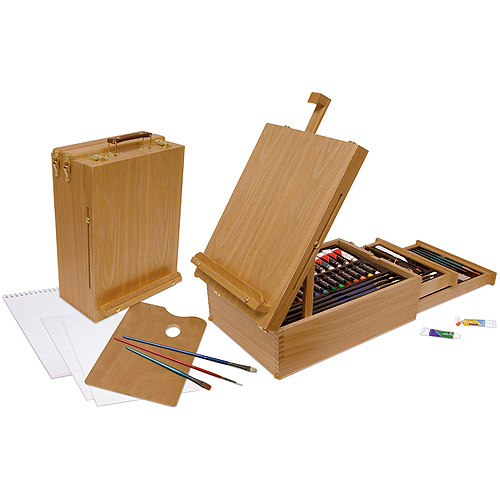 Easel Artist Set, All Media, 104 Pieces