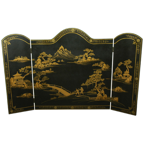 Oriental Furniture 3 Panel Fireplace Screen by Oriental Furniture