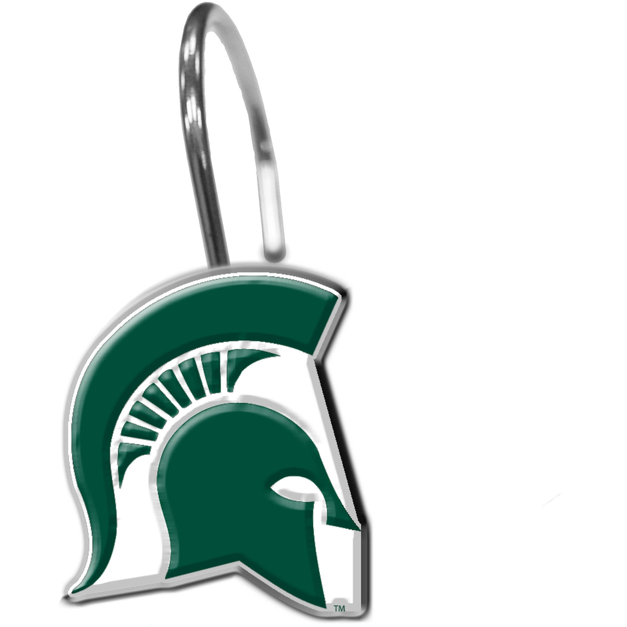 NCAA 12-Piece Shower Curtain Ring Set, Michigan State