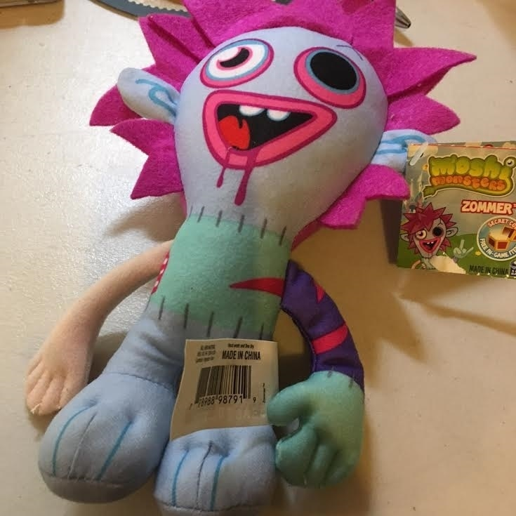 Moshi Monsters Moshlings Zommer Plush