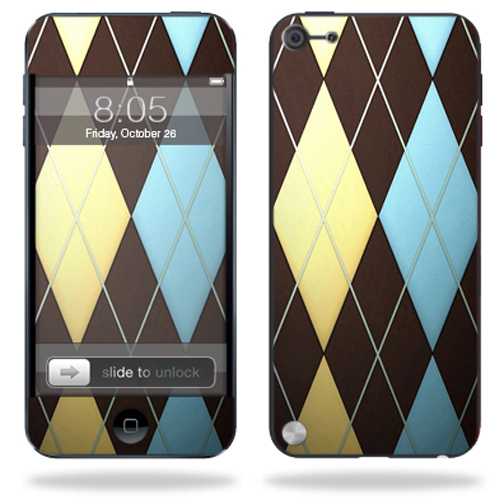 Mightyskins Protective Skin Decal Cover for Apple iPod Touch 5G (5th generation) MP3 Player wrap sticker skins Argyle