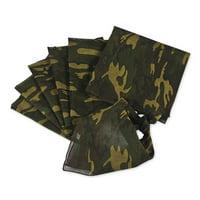 Camouflage Bandana Assortment - Party Wear - 12 Pieces
