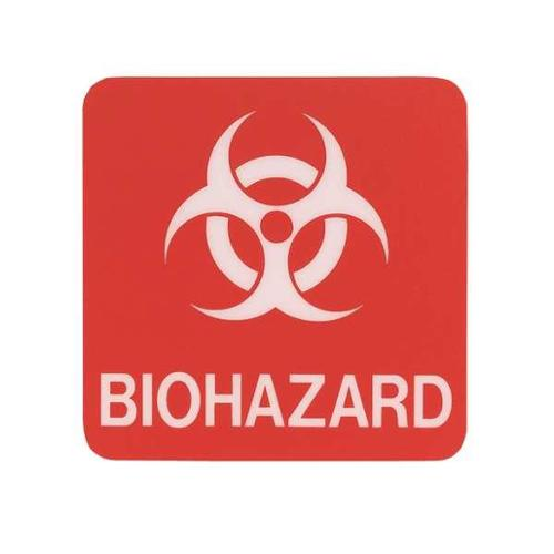 SIGN COMPLY 42295-16 BURGUNDY Biohazard Sign