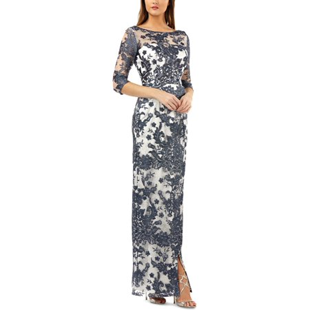 JS Collections Women's Illusion Lace Gown (Js Collections Lace)