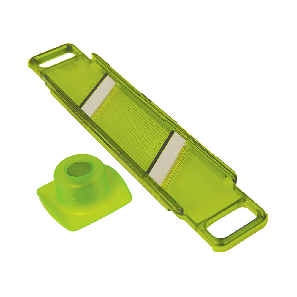 Kuhn Rikon Slim Mandoline Thick & Thin Slicer, Green