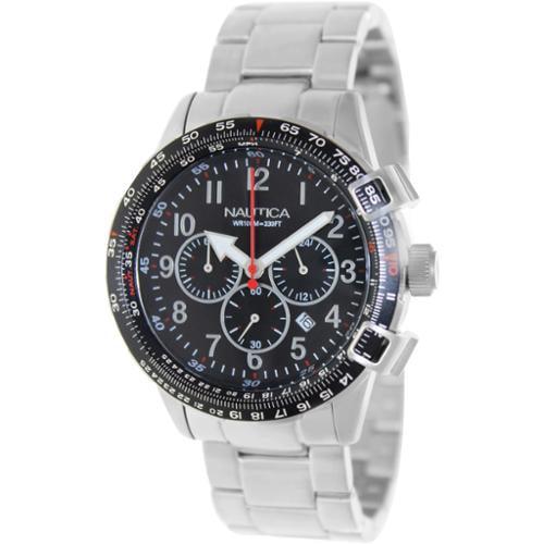 Nautica Men's Bfc 44 A24005G Silver Stainless-Steel Quartz Watch