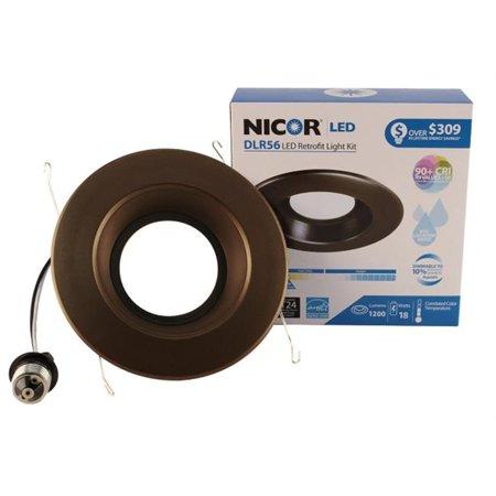 NICOR DLR56-3008-120-2K-OB 6 in. 800 Lumen LED Recessed Downlight in 2700K, Oil-Rubbed Bronze - image 1 de 1