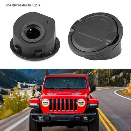 Ejoyous Essence bouchon diesel, bouchon d'essence, bouchon de réservoir de remplissage d'huile de carburant pour accessoires de voiture Jeep Wrangler JL 2018 - image 4 de 13