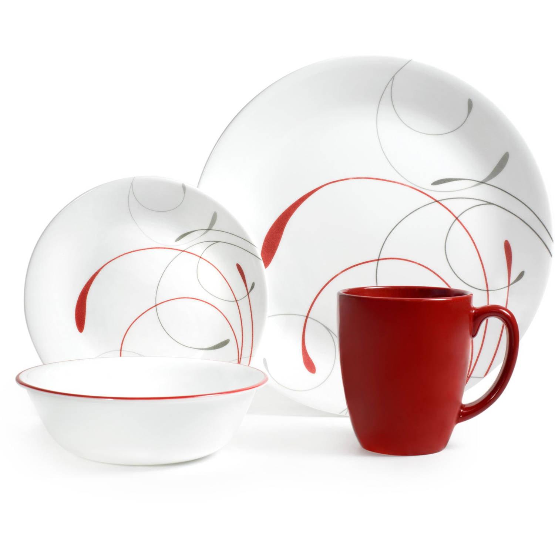 Corelle Livingware 16-Piece Dinnerware Set, Splendor Coupe